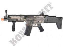 FN Scar Combat Rifle Official Model Spring Airsoft BB Gun 2 Tone Black & Smoked